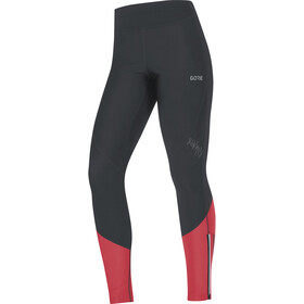 GORE WEAR R5 Windstopper Tights Damer, black/hibiscus pink